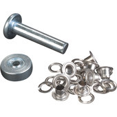 GROMMETS 4MM INCL. WASHER, SILVER