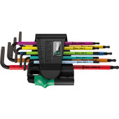WERA L-KEYS MULTICOLOUR, TORX, 9-PC.