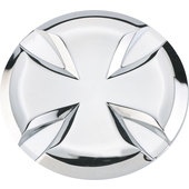 DECORATIVE PLATES IRON CROSS, CHROME
