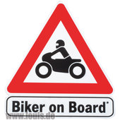 BAAS BOB1 BIKER ON BOARD STICKER, 10.5 X 11 CM