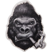 Sticker Mini Gorilla Size: 6,8 x 8,3 cm