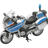 BMW R 1200 RT Police Motorcycle blue/white, scale 1:12