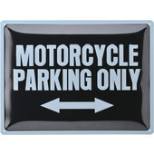 Metal. wandbord Motorcycle Parking Only