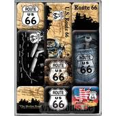MAGNET-SETS *ROUTE 66* 9-TEILIG, 70 X 93 X 20MM