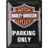 BLECHSCHILD H-D PARKING ONLY, (B X H):300 X 400MM