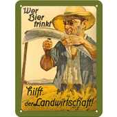 METAL SIGN *WER BIER....