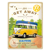 VW *GET AWAY* METAL SIGN, HxW 300 X 400 MM