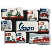 Vespa Magnets, Set of 9