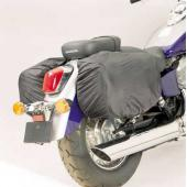 Raincover-Set, Black For Leather Saddlebags