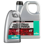 MOTOREX MOTORENÖL 10W/60 CROSS POWER 4T,VOLLS.