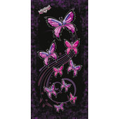 LETHAL ANGEL MULTI-SCARF NIGHT BUTTERFLY, BK./PINK