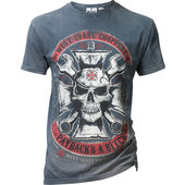 WCC T-SHIRT VINTAGE MECHANIC   BLAU