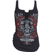 LETHAL ANGEL TANK TOP BLACK LACE RIDERS