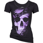 LETHAL ANGEL LADIES SHIRT LACE SKULL