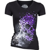 LETHAL ANGEL LADIES SHIRT BUTTERFLY LIGHT