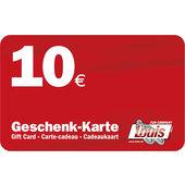10,- Euro Geschenkkarte
