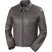 AJS LEATHER JACKET BROWN