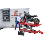 BRUDER motorcycle workshop