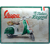 Retro Metal Sign Vespa Italian