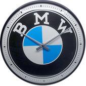 Horl. mur. rétro compteur BMW Logo Diamètre : 31cm