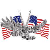 ADLER MIT US-FLAGGE
