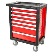 Tool trolley 7 drawers red/black