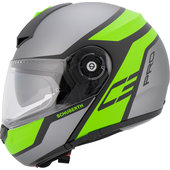 C3 Pro Echo Green Flip-Up Helmet