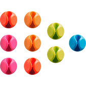 Cable Clips coloured, set of 9