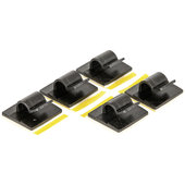 Cable holder set for Scottoiler 5-piece, black