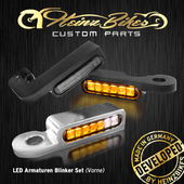 LED Armaturen-Blinker schwarz
