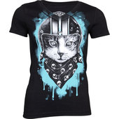 LETHAL ANGEL LADIES SHIRT BIKER CAT