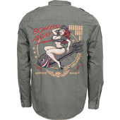 Lethal Threat Bomber Pin Up chemise
