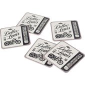 *LOUIS 80* COASTERS SET OF 5 WXH: 90 X 90 MM