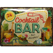 Retro Blechschild Cocktail Bar Maße: 40x30cm