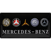 Retro Blechschild Mercedes-Benz Logo Evolution Maße: 50x250cm