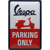 Metal Sign Vespa Logo