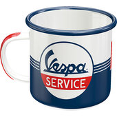 Emaille Becher - Vespa Service Inhalt 360ml