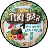 Retro wandklok Tiki Bar