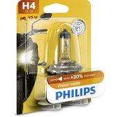 PHILIPS VISION MOTO H4 HALOGEN LAMP 60/55W +30%