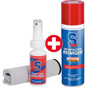Set:S100 Helmet Lining Cleaner, 300 ml + Visor and Helmet Cleaner, 100 ml