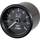 T&T Electronic Tachometer 48mm, -8000 rpm, black