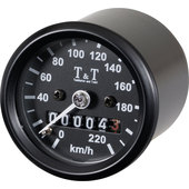 T&T MECHAN. SPEEDOMETER -220 KM/H/ RATIO 1:4, M12