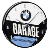 WALLCLOCK BMW *GARAGE* DIAMETER: 31 CM