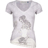 LADIES SHIRT SKELETON BRIDE