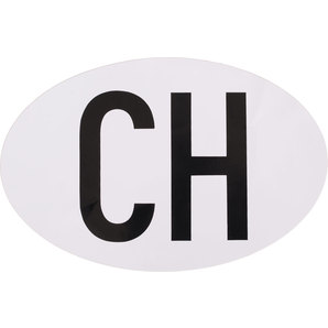 CH STICKER, WHITE, OVAL