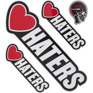 LOVE HATERS STICKER