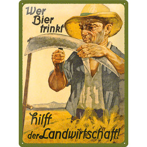 METAL SIGN *WER BIER....*