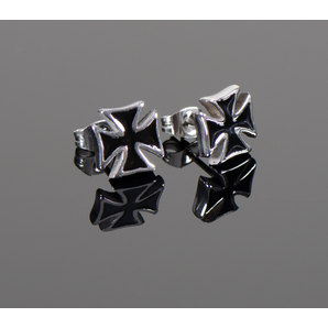 *IRON CROSS* EAR STUDS