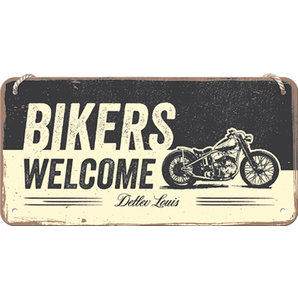 "hanging Sign ""Bikers Welcome"""