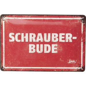 "Metal Sign ""Schrauberbude"""